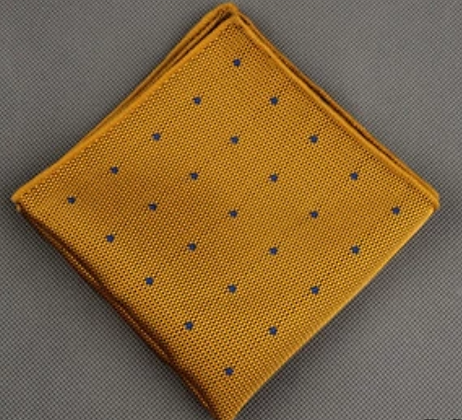GOLDEN NAVY POCKET SQUARE