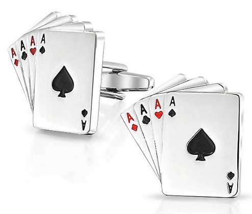 DECK OF CARDS CUFF LINKS
