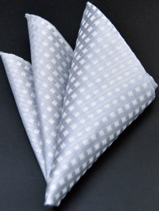 SILVER SQUARES POCKET SQUARE
