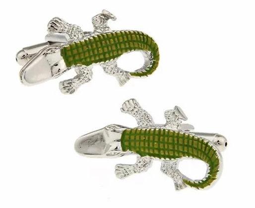 Crocodile Cuff Links