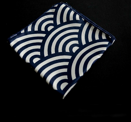 BLUE CLOUDS POCKET SQUARE