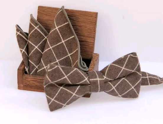 Michael Bowtie & Pocket Square Set