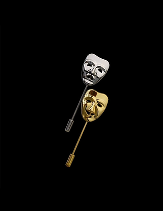 COMEDY & TRAGEDY MASK LAPEL PIN
