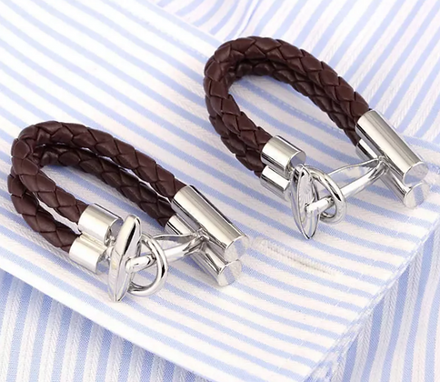 LEATHER WHIP CUFFLINKS
