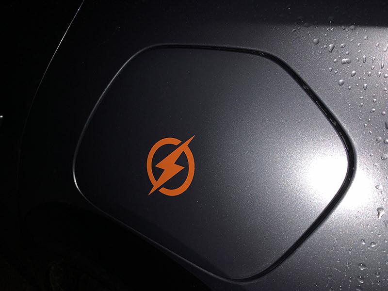 Sticker vinyle voiture électrique