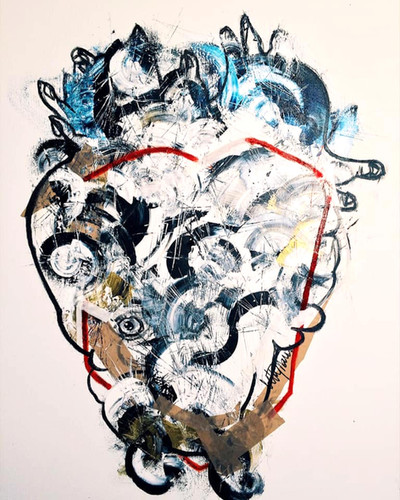 Heart Attack!, mixed media, 95X73CM, 201