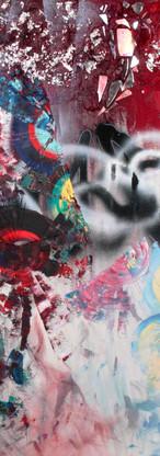Textures x Spirales-Miroirs 09, Graffiti