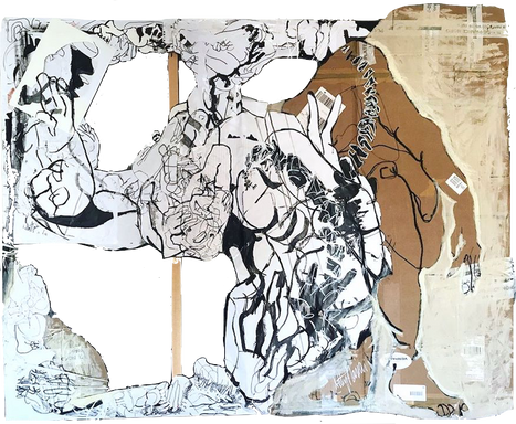 Corpus serie, drawing, painting and coll