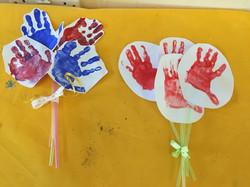 Hand print bouquets