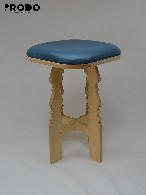 Mashrabya Leather Seat - Teal Design