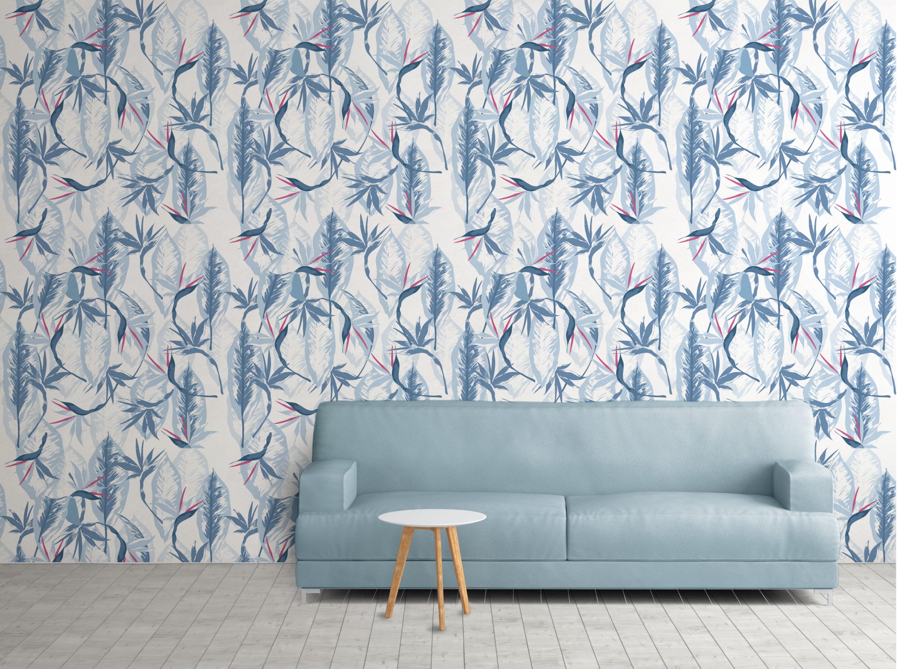 sofa- wallpaper