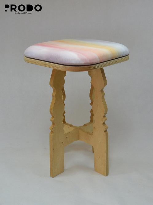 Mashrabya Leather Seat - Pastel Oil Painting Design