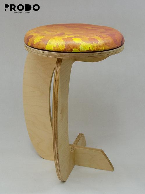 Rocker Leather Seat -  Golden Pattern Design