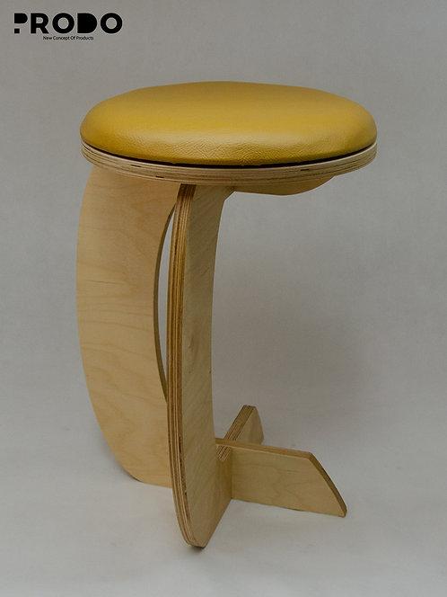 Rocker Leather Seat - Gold Design
