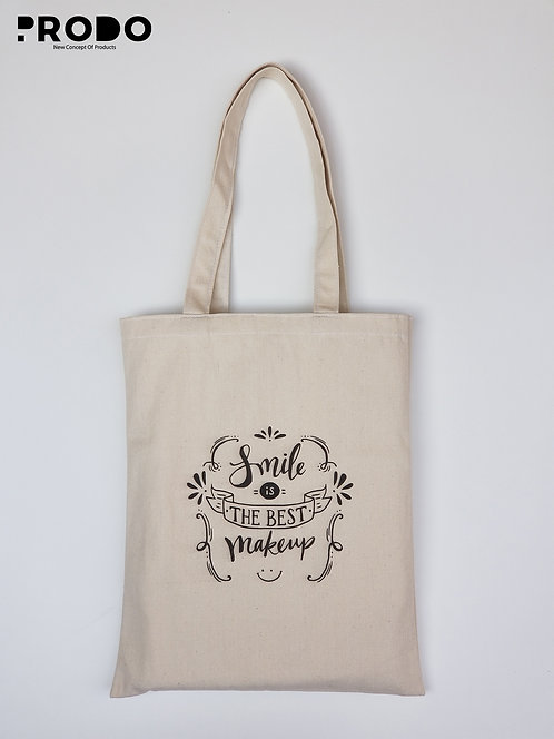 Tote Bag - Smile is the best makeup Design