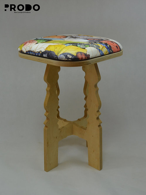Mashrabya Leather Seat -  Butterfly Design