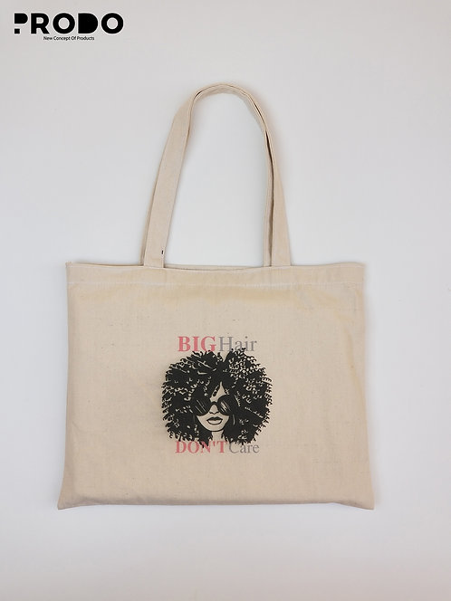 Tote Bag - Big Hair Don't Care  Design