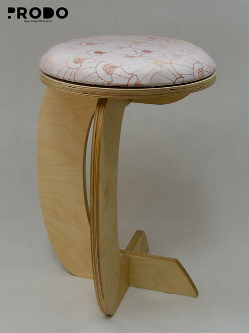 Rocker Leather Seat -  Rose Gold Design