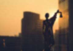 Lady Justice, Law concept. Silhouette of