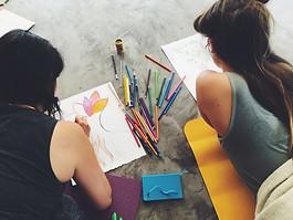 Stage Yoga & Féminin Atelier créatif dessin.JPG