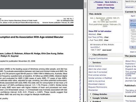 Trabalho Científico:Consumo de carne vermelha e frango e degeneração macular relacionada com a idade