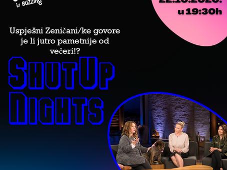 Javni poziv| Shut UP nights