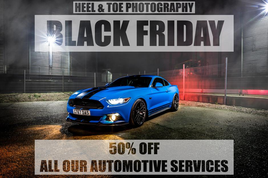 Black Friday 50% Off Sale.