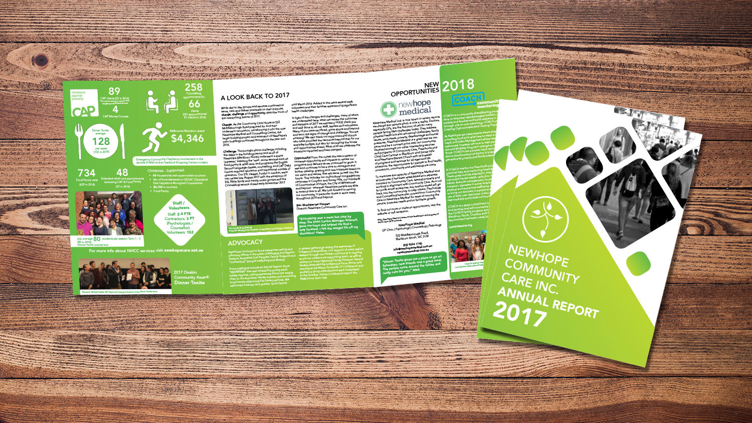 NewHope Community Care Annual Report Design