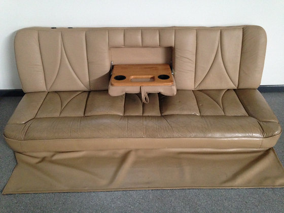 Motorhome Connolly Leather Sofa Lounge