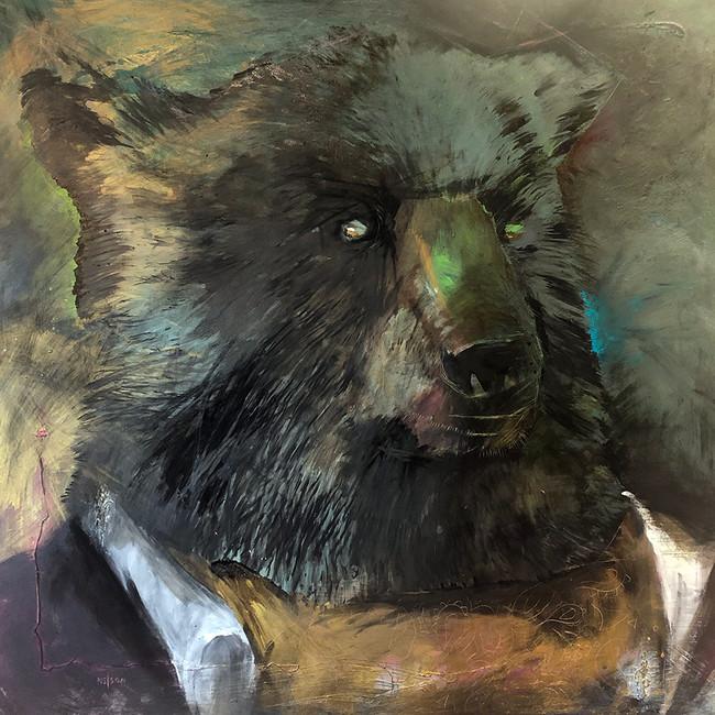 Black Bear / Gold Ascot