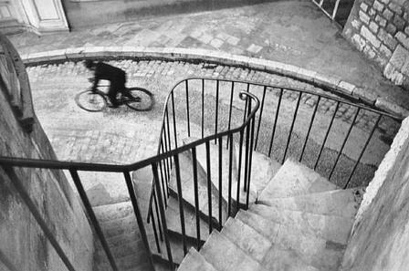 Bike rider and steps