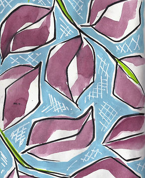 loose purple leaf painting