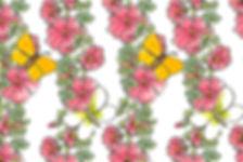 Hollyhocks Spoonflower Moira Carter
