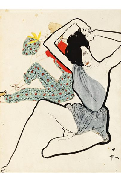 Illustration sold by Vogue at Auction