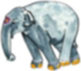 E is a painted Elephant!