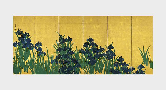 Irises by Ogata Kōrin