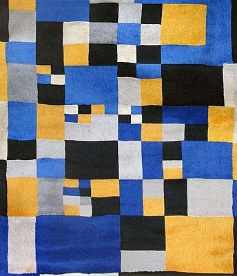 Carrés magiques,1980 Sonia Delaunay Woven Wool Tapestry