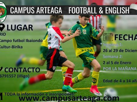 Campus Arteaga Football & English Navidad 2017-18