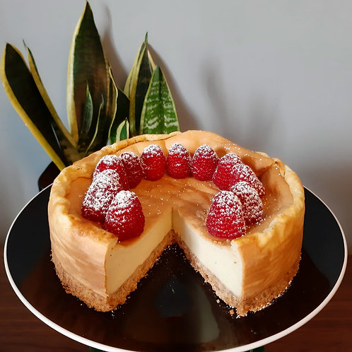 vegan baked cheesecake,