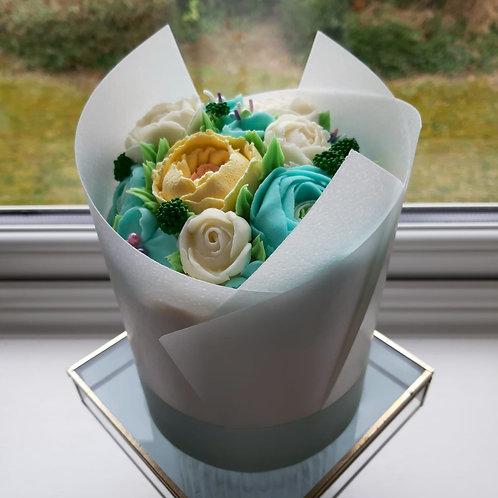 Flour Bouquet Cake, buttercream flowers, celebration cake