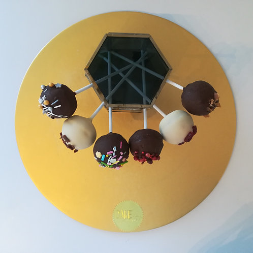 designer cake pops, cake pops, wedding party, Callebaut chocolate