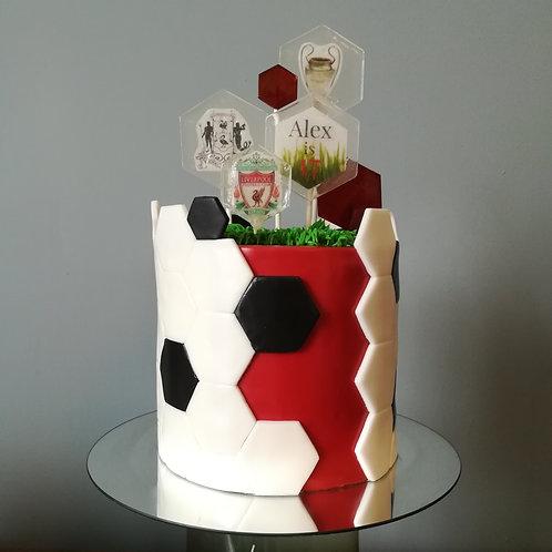 FC Liverpool, Liverpool Club, Football Cake, FC Liverpool cake