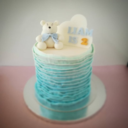 custom made cake, cake for children, tort urodzinowy, tort dla dziecka, gender reveal cake, teddy bear cake, torty liverpool