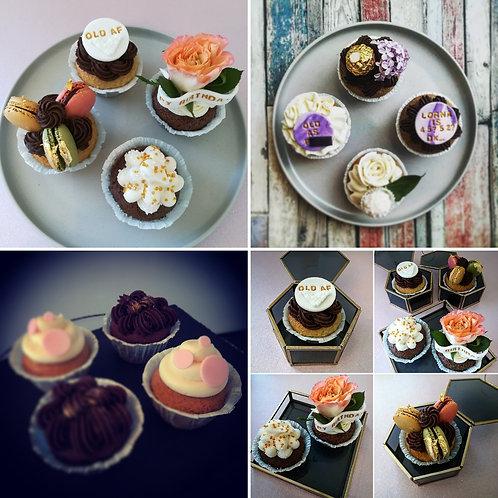 personalized cupcakes, birthday cupcakes, cupcakes, naughty cupcakes,