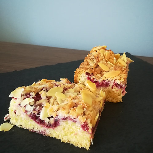 Raspberry, Coconut and Almond Tray Bake