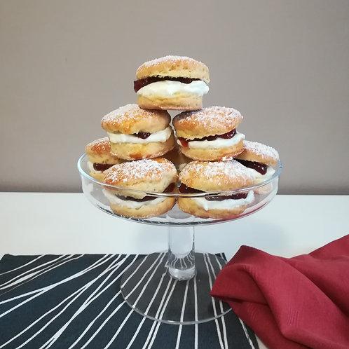 mini scones, scones, Rhodda's Clotted Cream, party food, baby shower,
