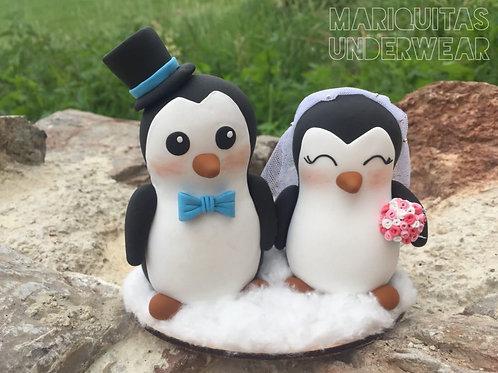 Pareja Pingüinos