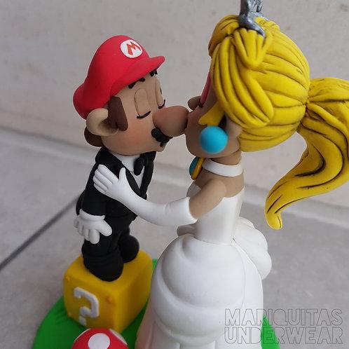 Pareja Mario y Peach - EDICIÓN NOVIOS