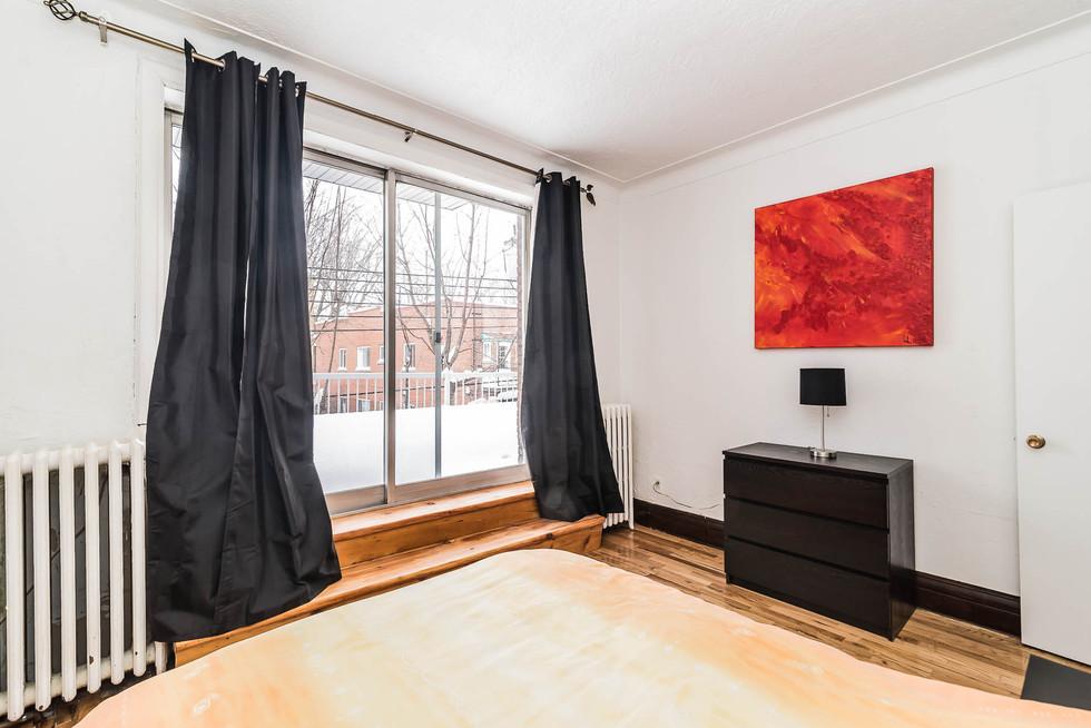 Exemple de chambre avec terrasse