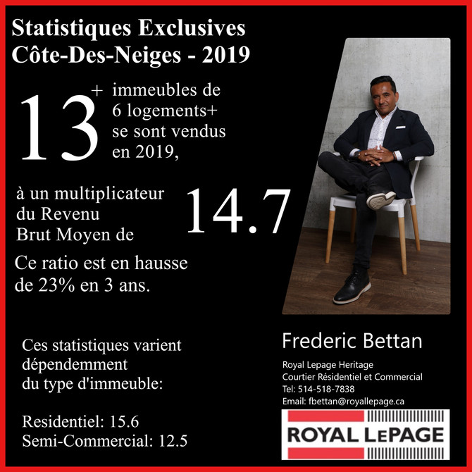 Immeubles 6 logements + : CDN 2019